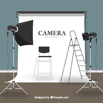 Ilustración de equipo fotográfico