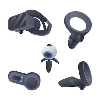 Ilustración de equipo de realidad virtual