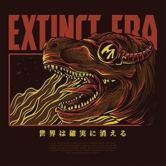 Ilustración de la era extinta