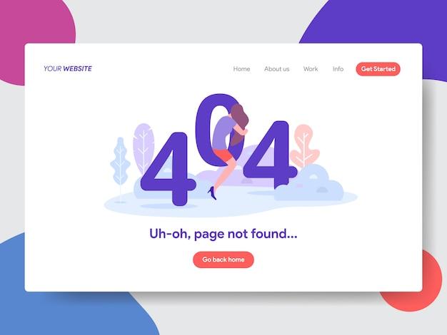Ilustración de error 404 página no encontrada