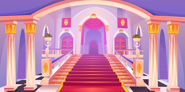Ilustración de escalera de castillo