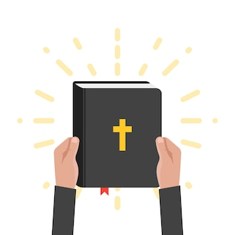 Ilustración de la escritura del libro sagrado