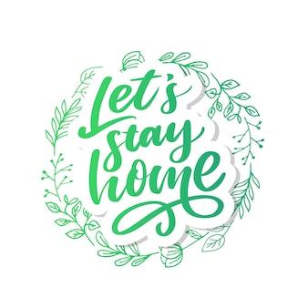 Ilustración de eslogan de cuarentena