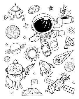 Ilustración espacio doodle 2