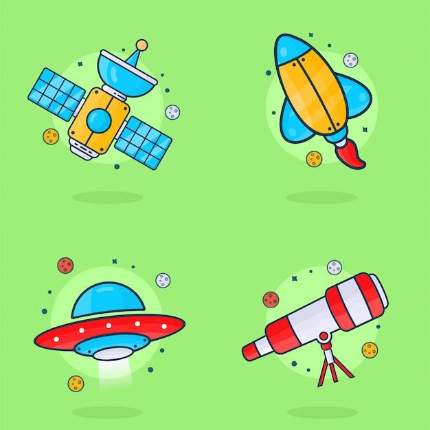 Ilustración del espacio, luna