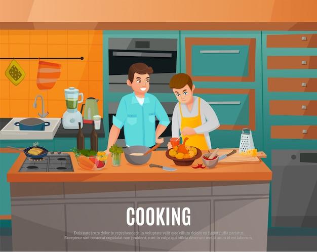Ilustración del espectáculo de cocina