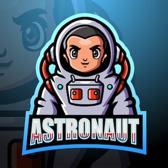 Ilustración de esport de mascota astronauta