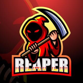 Ilustración de esport de la mascota del cráneo de reaper