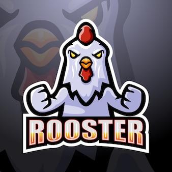 Ilustración de esport de mascota de gallo