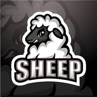 Ilustración de esport mascota de ovejas