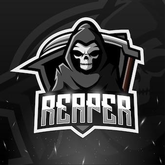 Ilustración de esport mascota reaper
