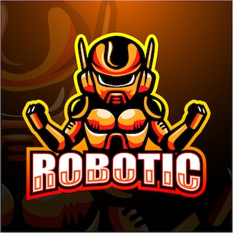 Ilustración de esport mascota robótica
