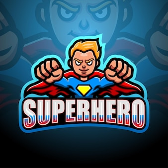 Ilustración de esport de mascota de superhéroe