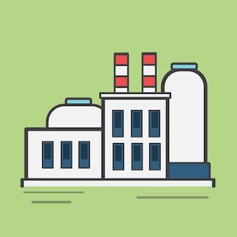 Ilustración de una estación de energía
