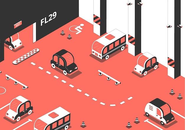 Ilustración de estacionamiento