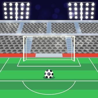 Ilustración de estadio de fútbol de fútbol plano