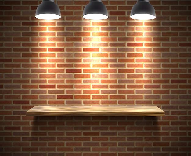 Ilustración de estante vacío