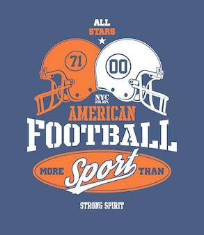 Ilustración estilizada del casco de fútbol americano