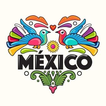 Ilustración de estilo mexicano
