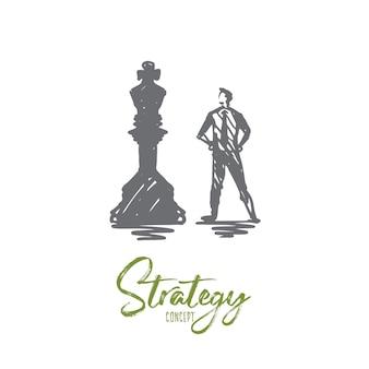 Ilustración de estrategia en dibujado a mano