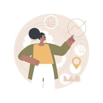 Ilustración de estrategia digital