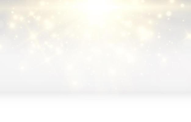 Ilustración de estrella hermosa brillante de un efecto de luz en transparente