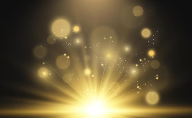 Ilustración de estrella hermosa brillante de un efecto de luz