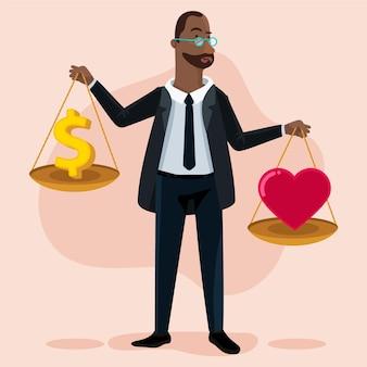 Ilustración de ética empresarial