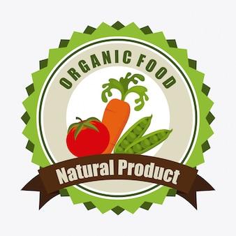 Ilustración de la etiqueta de alimentos orgánicos