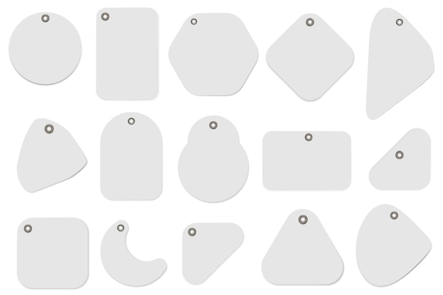 Ilustración de etiqueta en blanco