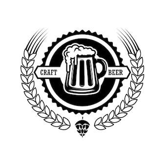 Ilustración de etiqueta de cerveza vintage