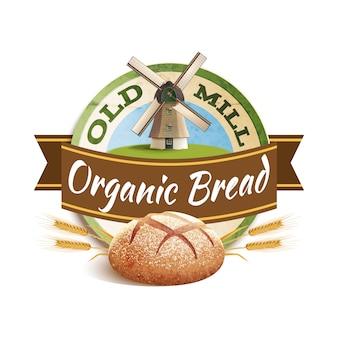 Ilustración de etiqueta de panadería