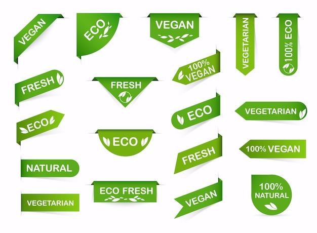 Ilustración de etiquetas veganas
