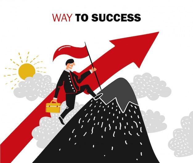 Ilustración de éxito empresarial