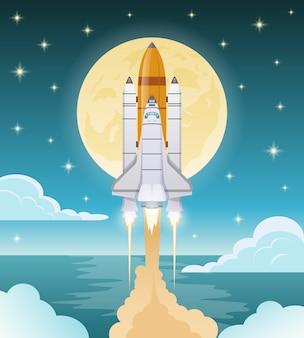 Ilustración de exploración espacial