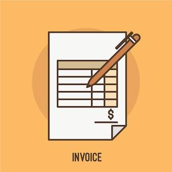 Ilustración de factura