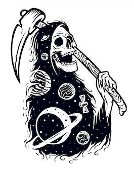Ilustración del fantasma de la galaxia