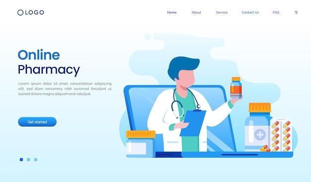 Ilustración de farmacia en línea