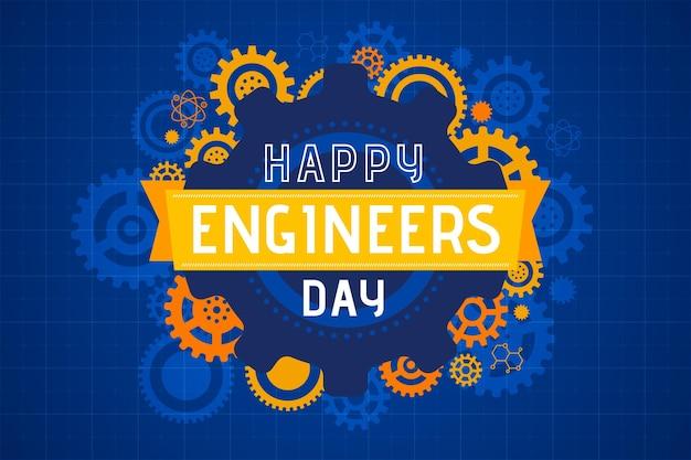 Ilustración feliz del día de los ingenieros