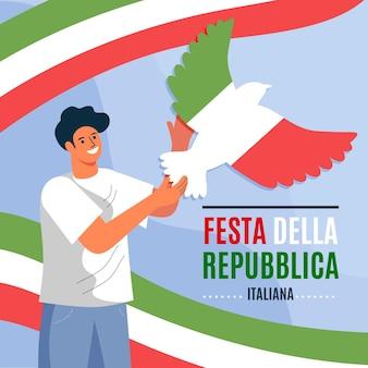 Ilustración de festa della repubblica plana orgánica