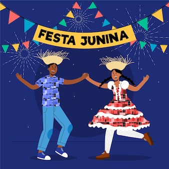 Ilustración de festa junina plana orgánica