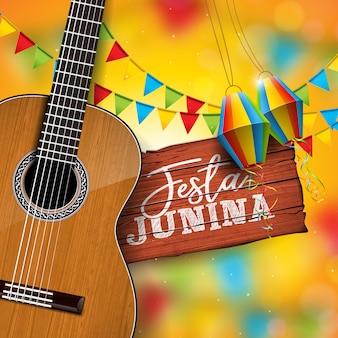 Ilustración de festa junina