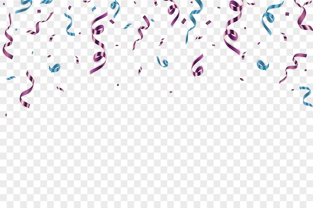 Ilustración festiva con confeti aislado