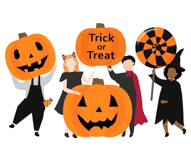Ilustración festiva feliz halloween gráfico
