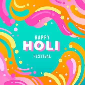 Ilustración de festival holi plano