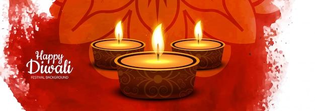 Ilustración para el festival indio diwali celebraciones banner