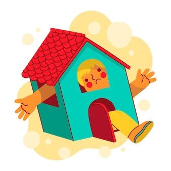 Ilustración con fiebre de cabina