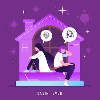Ilustración de fiebre de cabina