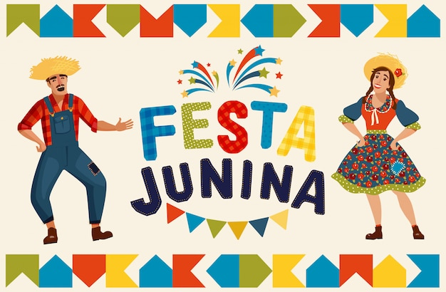 Ilustración de la fiesta junina
