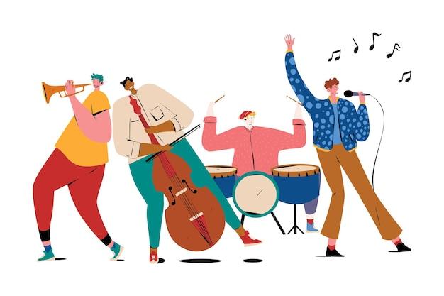 Ilustración de fiesta de música